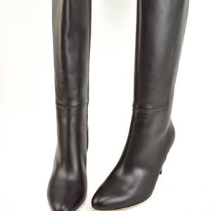 GUCCI: Brown, Leather & Logo Tall Boots